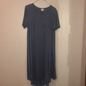Women's Lularoe Carly Dress size L Blue Heather